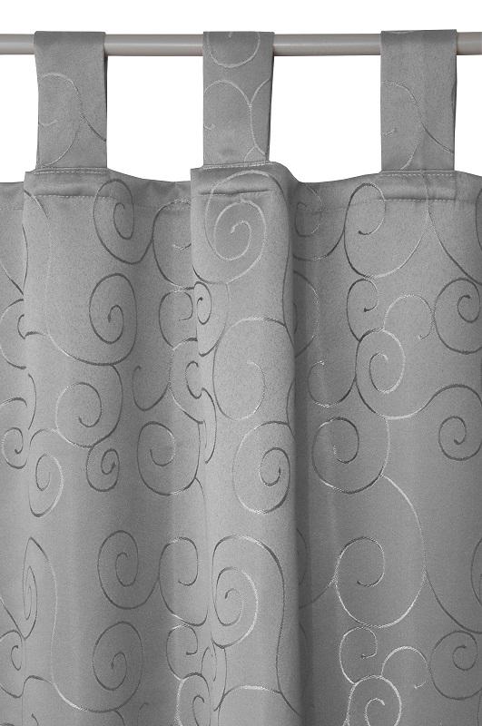 schlaufenschal blickdicht vorhang gardine milano 140cm x 240cm farbe w hlbar ebay. Black Bedroom Furniture Sets. Home Design Ideas